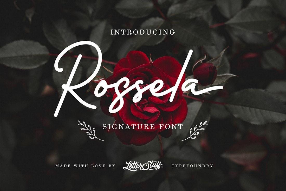 Rossela - Free Script Signature Font