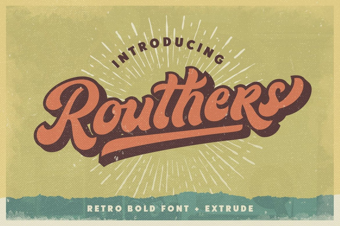 Routhers Retro Bold Font