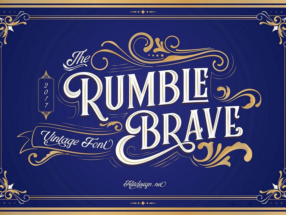 Rumble Brave - Free Display Font
