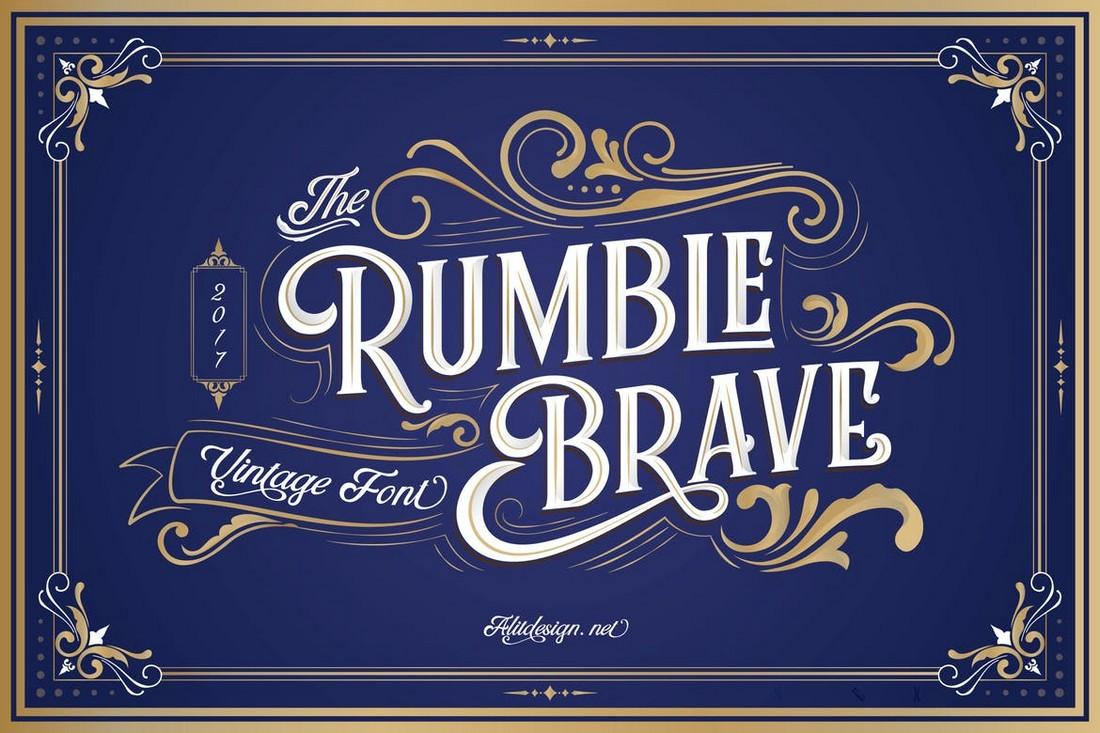 Rumble Brave Vintage Font Family