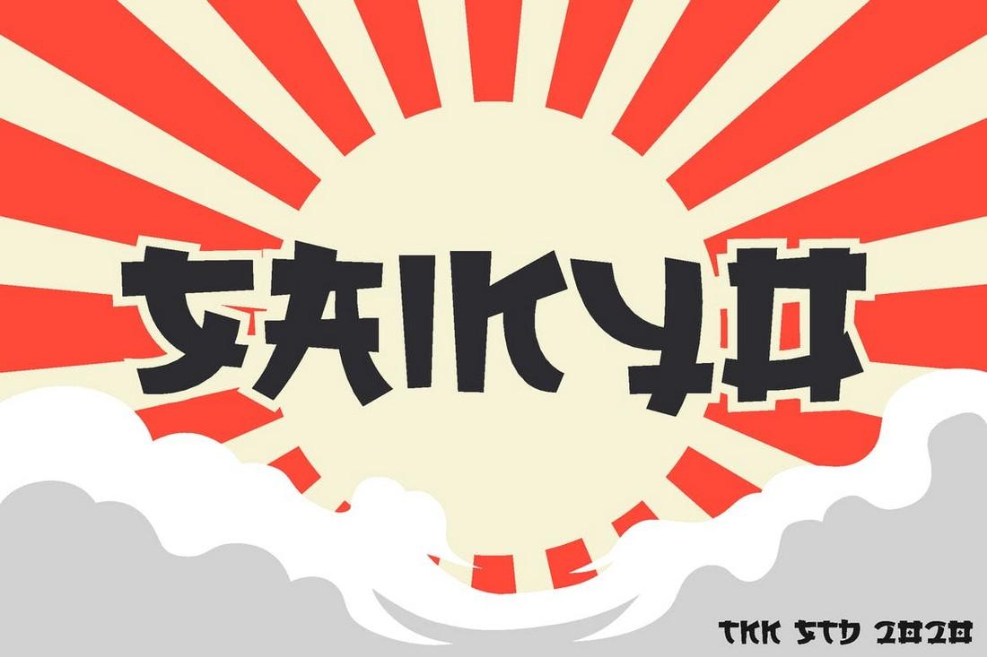 SAIKYO - Font Tampilan Jepang