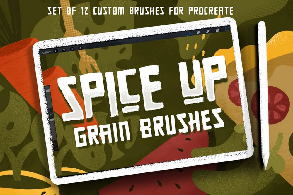 SPICE UP - Grain Brushes for Procreate