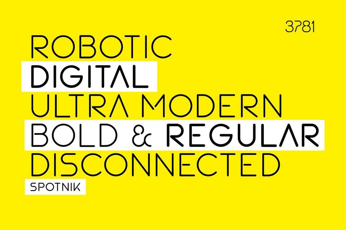 SPOTNIK - Font Geometris Ultra Modern