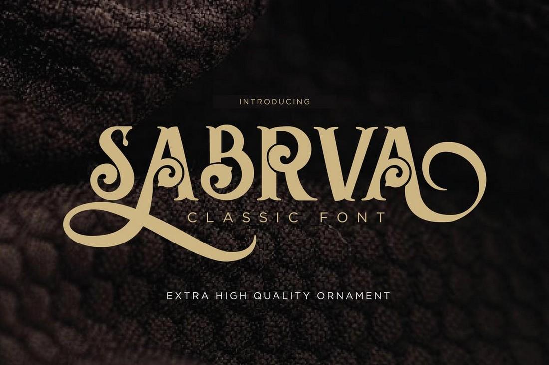 Sabrva - Font Art Nouveau Vintage
