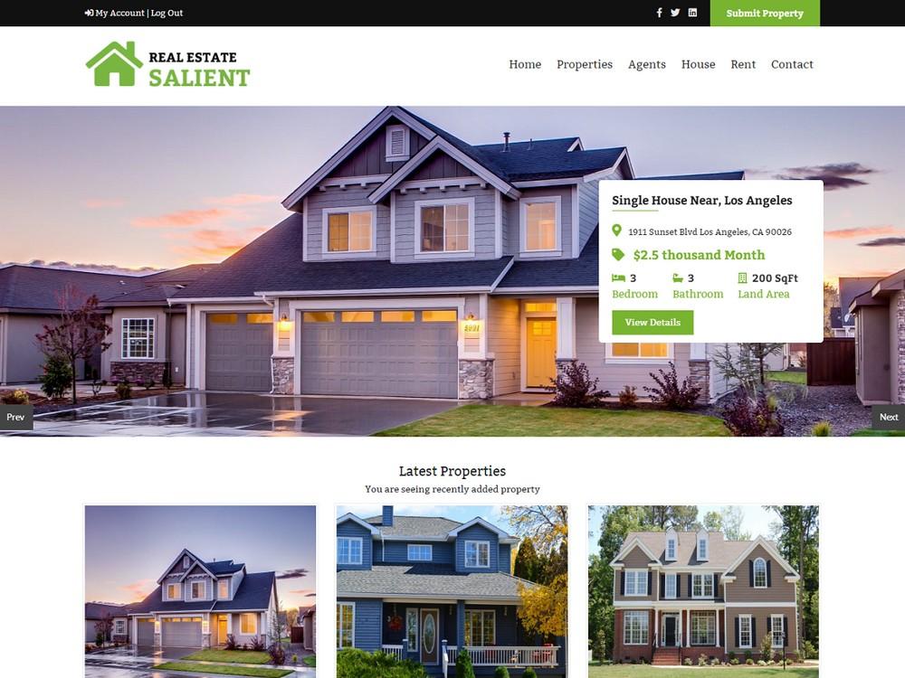 Salient - Free Real Estate WordPress Theme