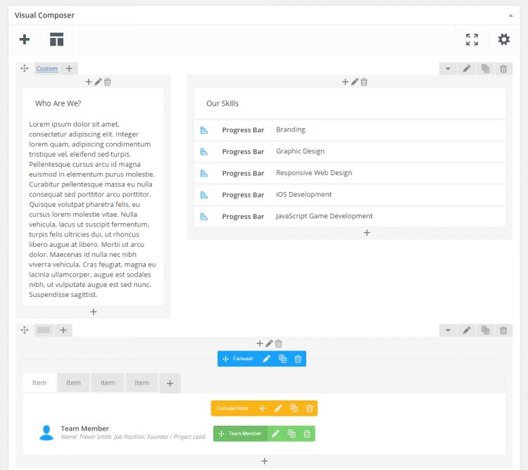 Komposer Visual Ulasan Tema WordPress yang menonjol