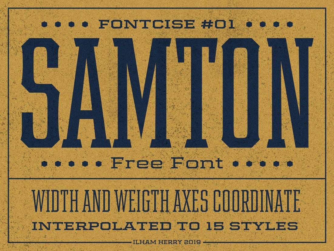 Samton - Free Vintage Font