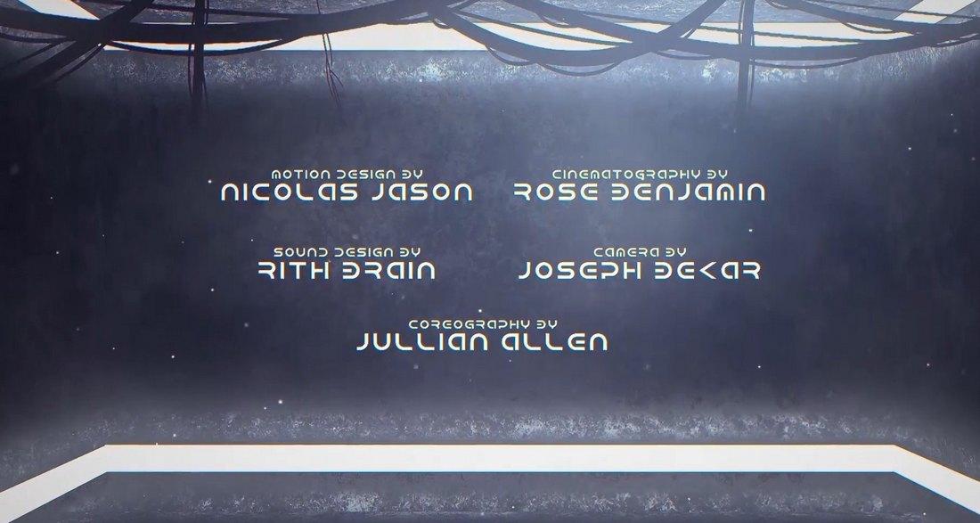 Sci-Fi End Credits Premiere Pro Template