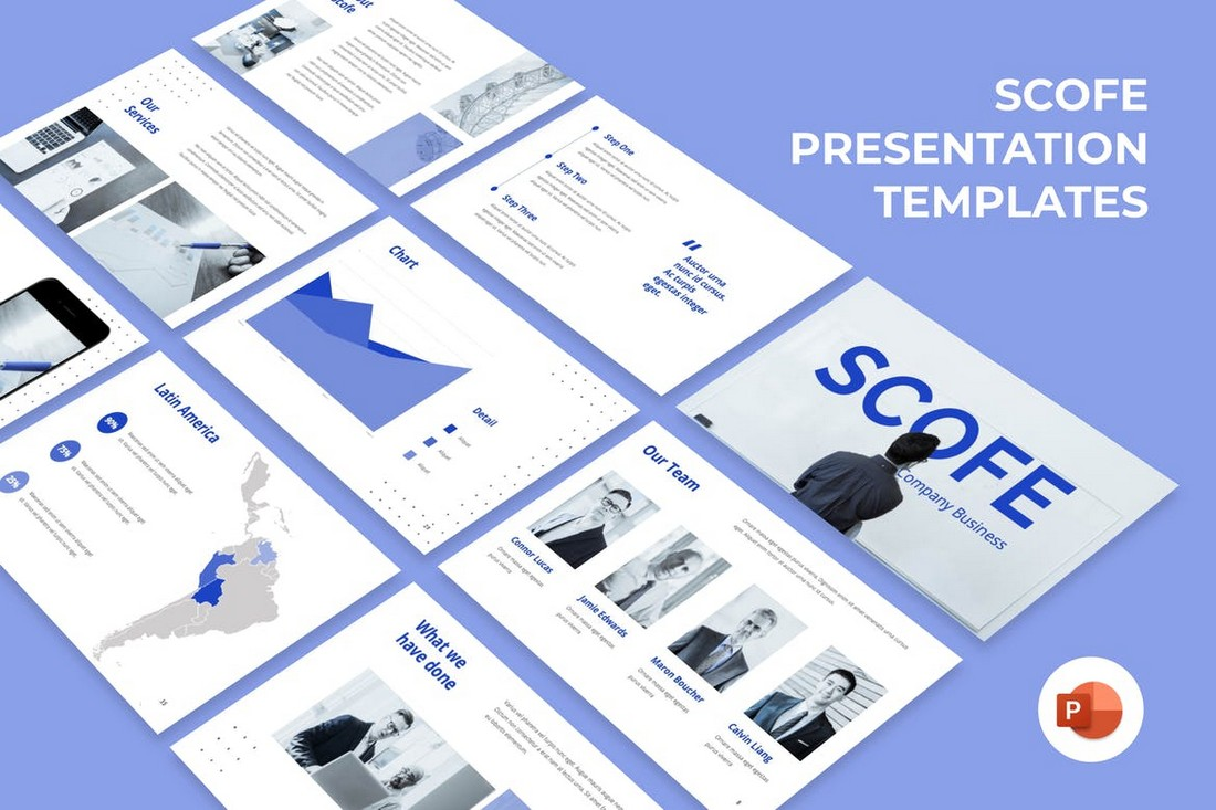 Scofe - Pitch Deck Business Powerpoint Template