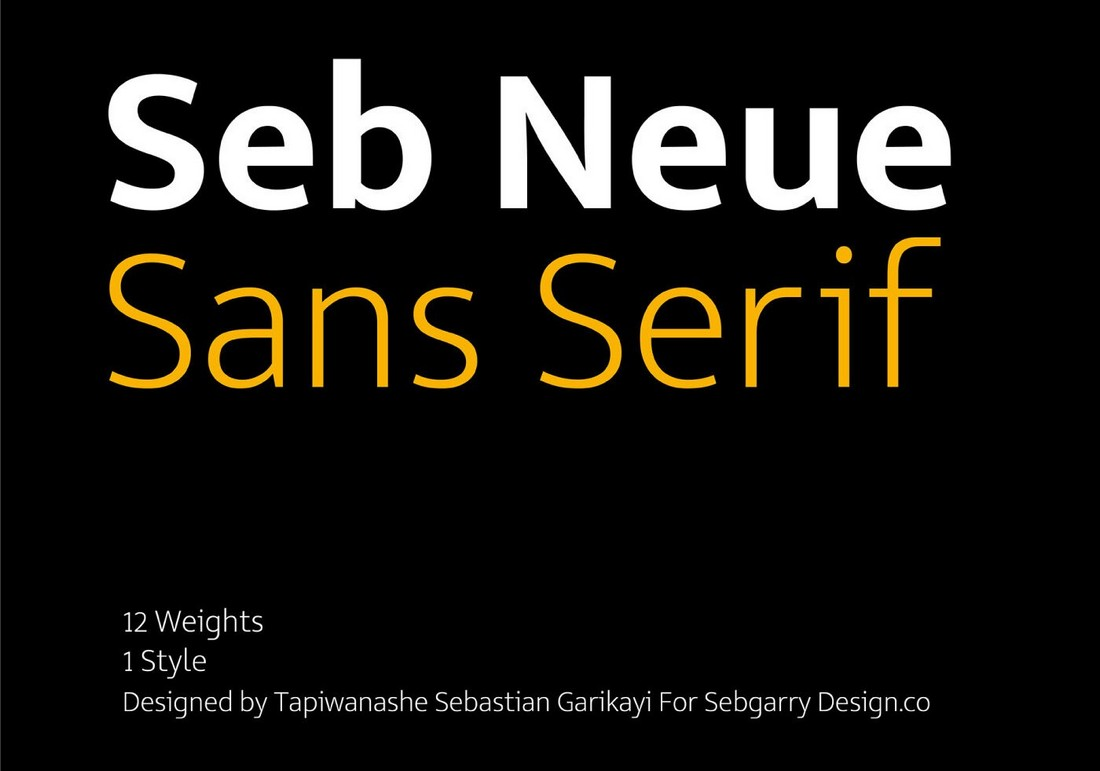 Seb Neue - Free Business Card Font Family
