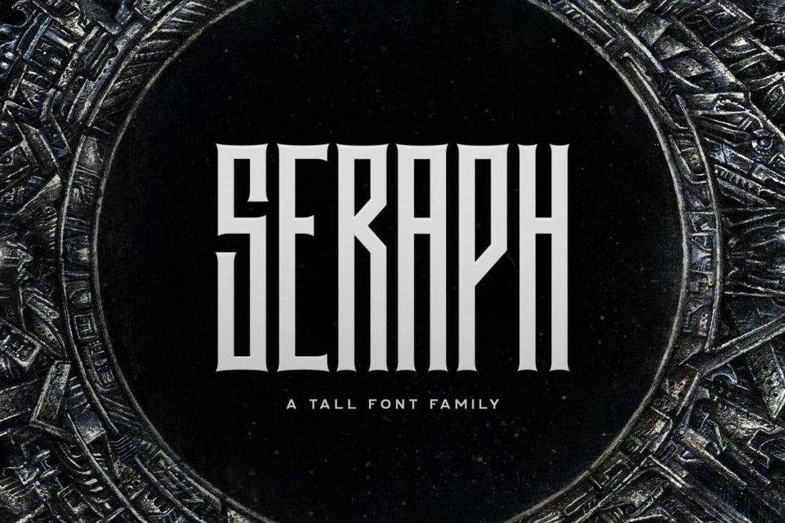 Seraph - Keluarga Font Logam Berat