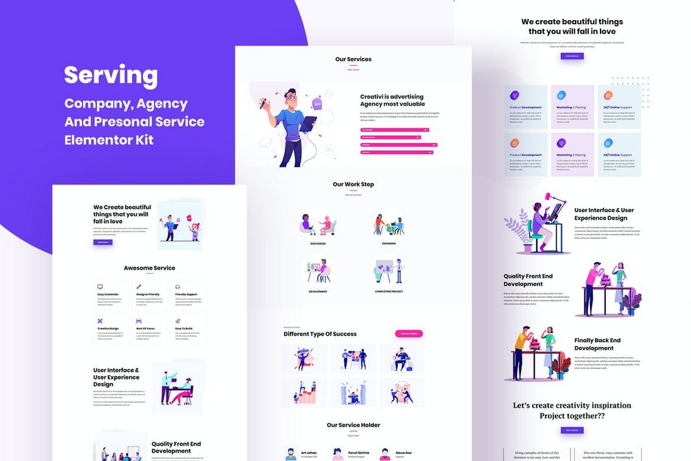 Serving - Service & Business Template Kit