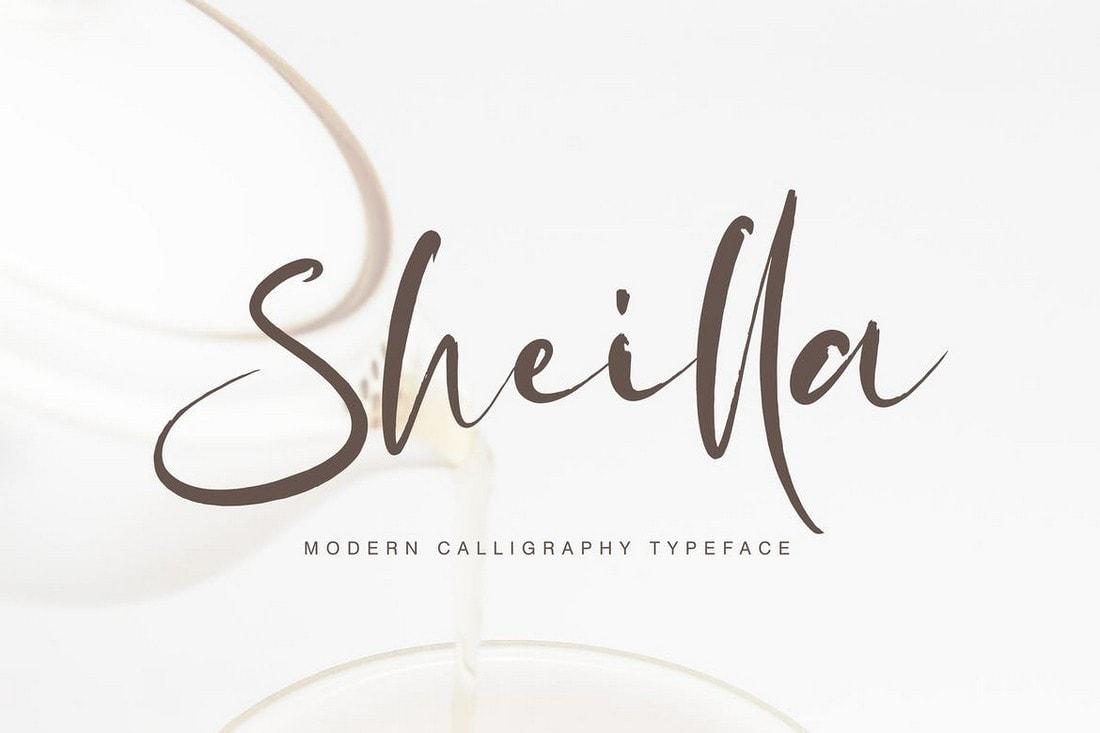Sheilla - Handwriting Calligraphy Font