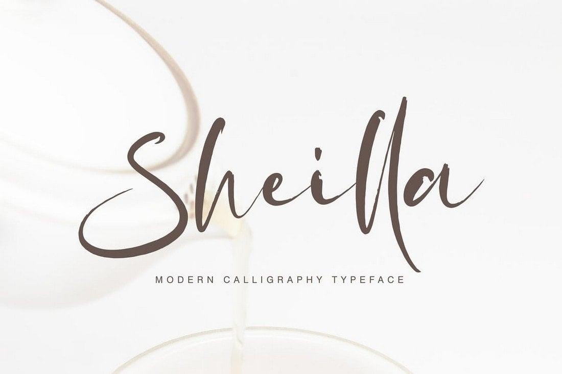 Sheilla - Modern Calligraphy Font