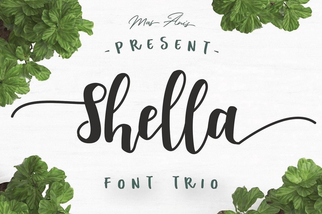 Shella - Free Script Font Trio