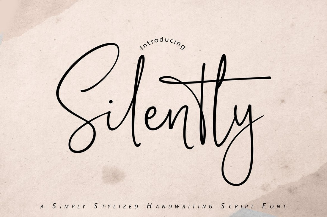 Silently - Handwriting Script Font