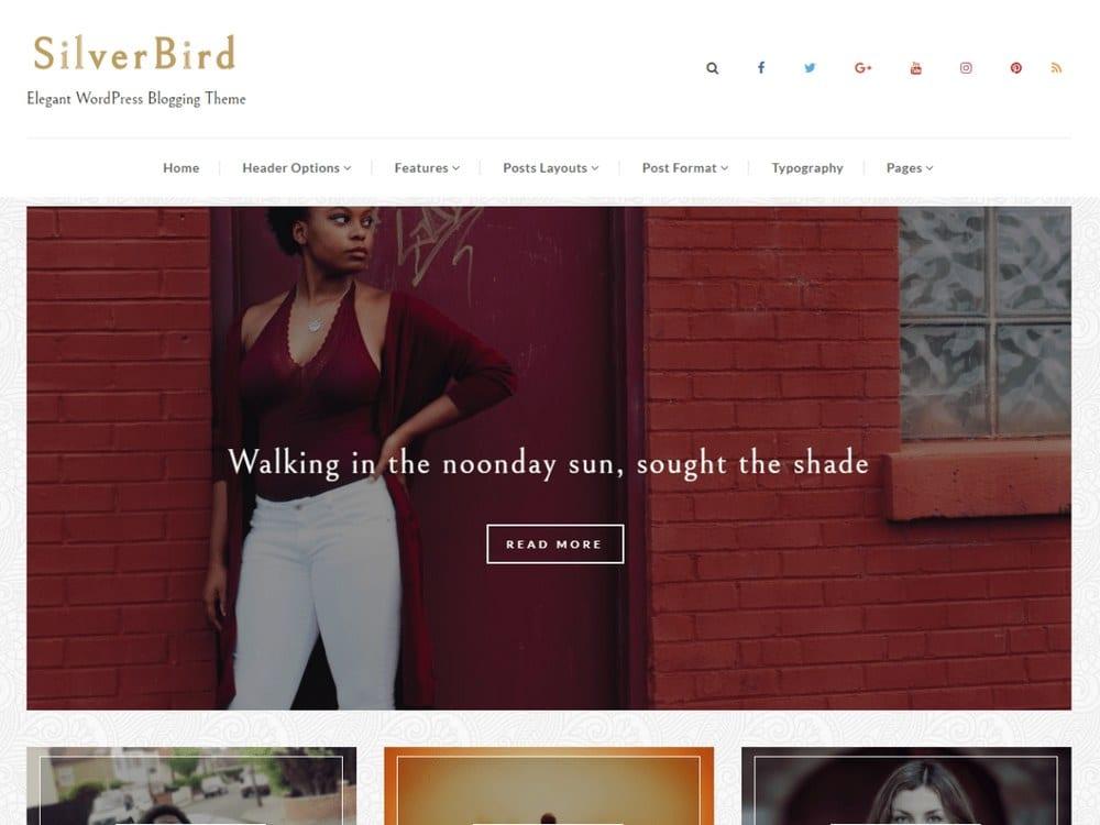SilverBird - Tema Fotografi WordPress Gratis