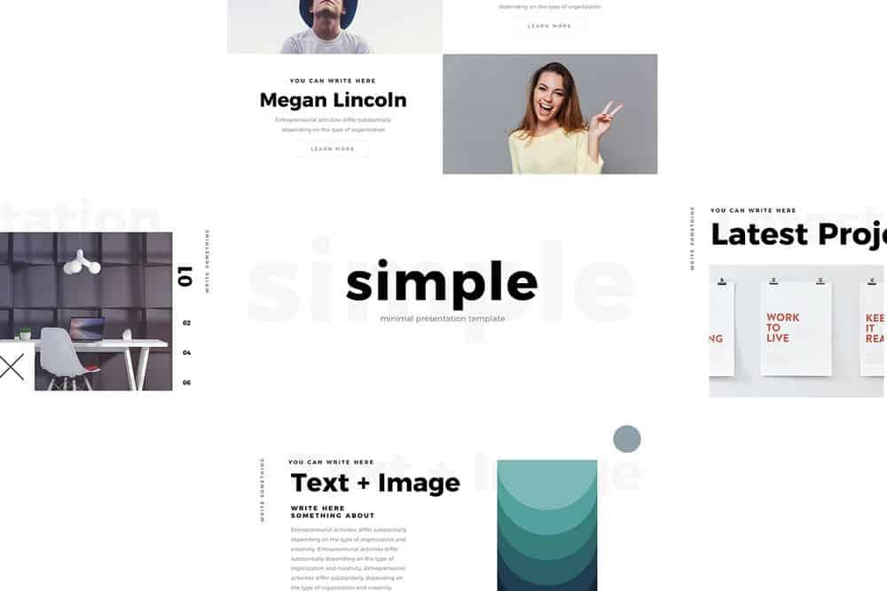 Simlpe - Free Minimal Keynote Template