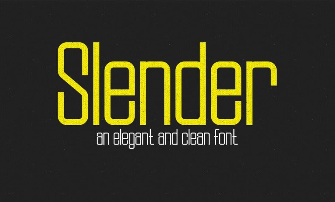 Slender - Free Slim Font
