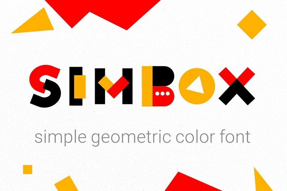 Slimbox - Geometric Color Font