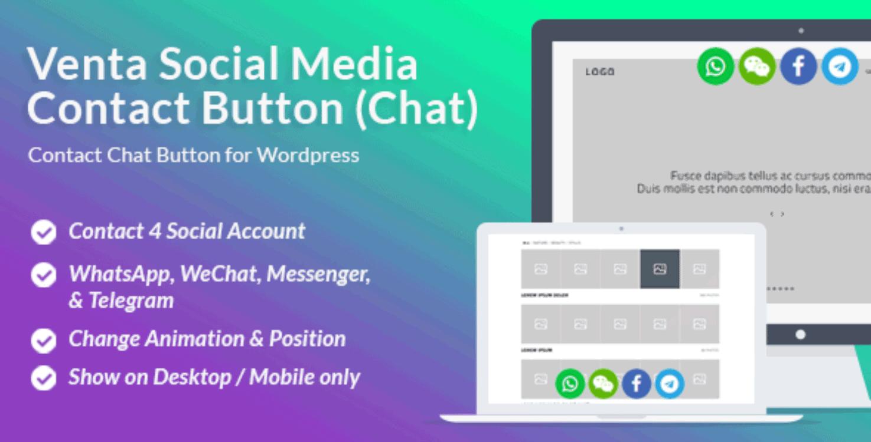 Venta Social Contact Chat Button