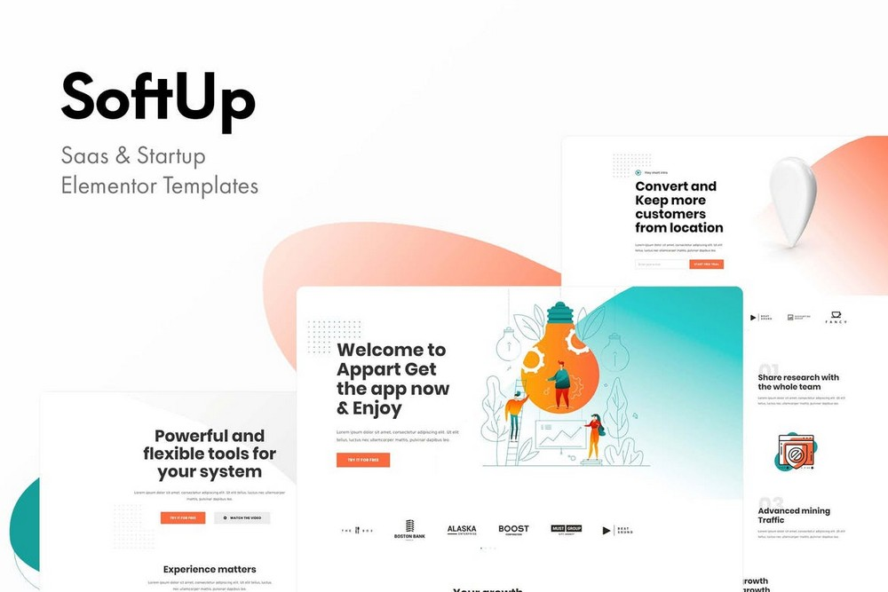 SoftUp - Saas & Startup Elementor Template Kit