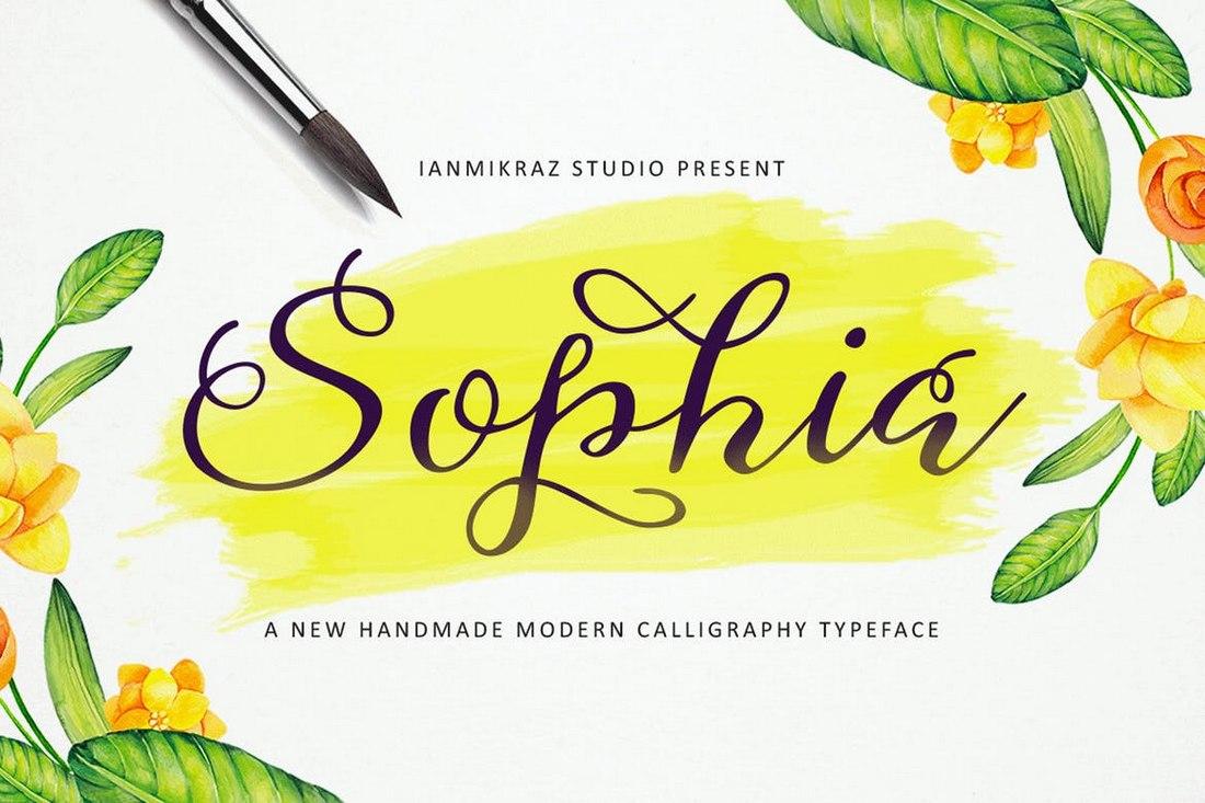 Sophia - Font Naskah Pernikahan Buatan Tangan
