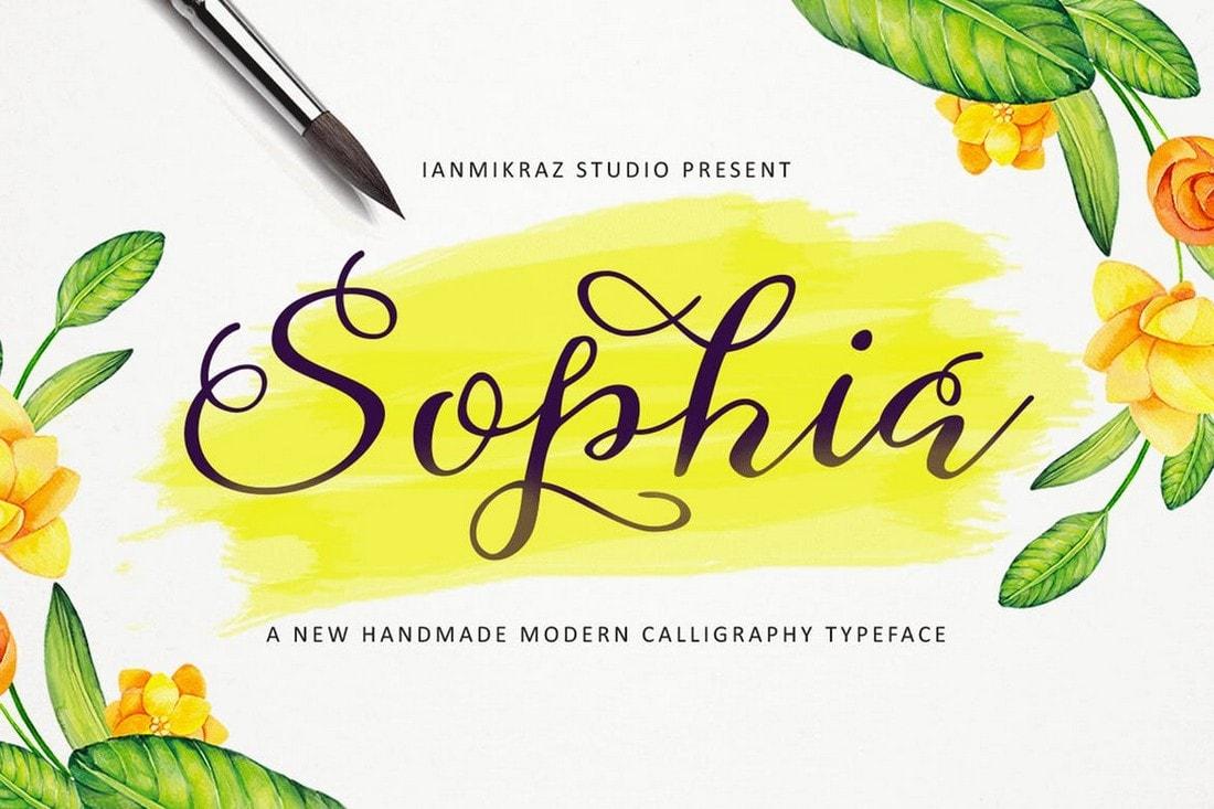 Sophia - Modern Handmade Script Font