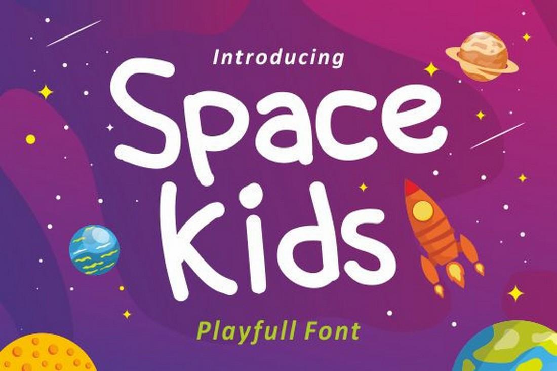 Space Kids - Font Anak Gratis