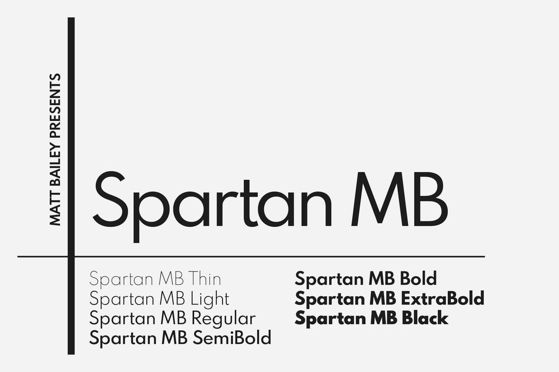 Spartan MB - Keluarga Font Geometris Gratis