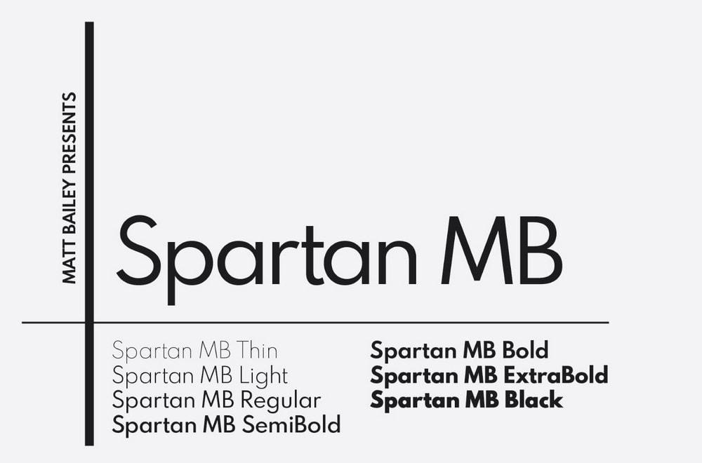 Spartan MB - Free Sans Font Family