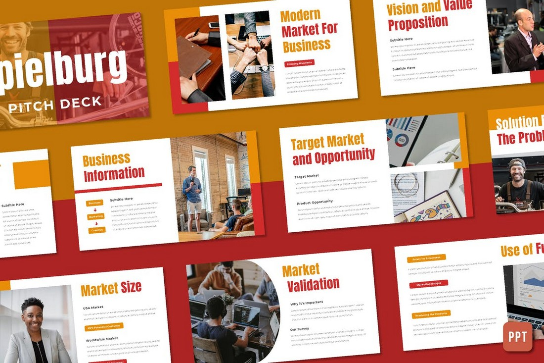 Spielburg - Pitch Deck PowerPoint Template