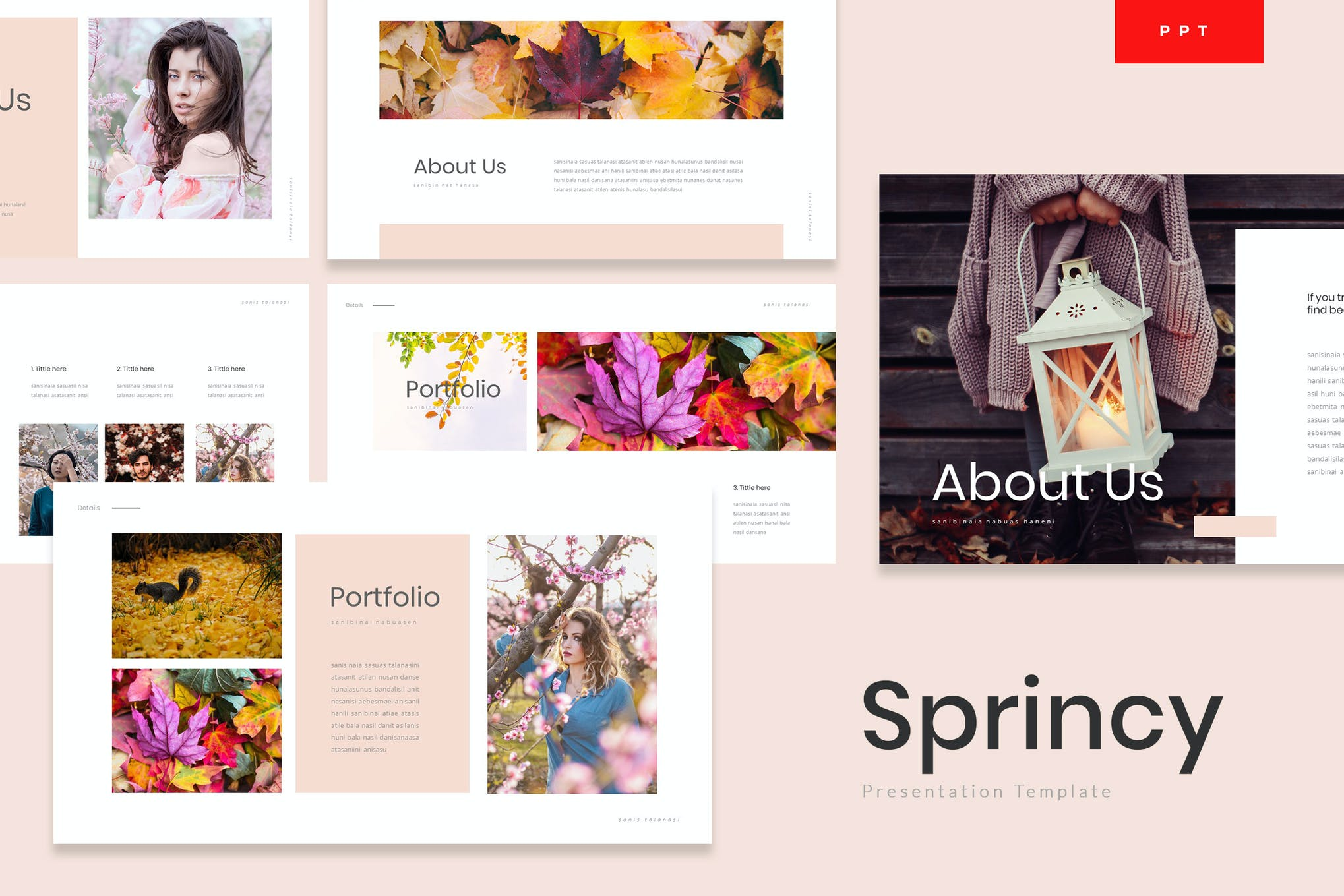 Sprincy - Autumn Powerpoint Template