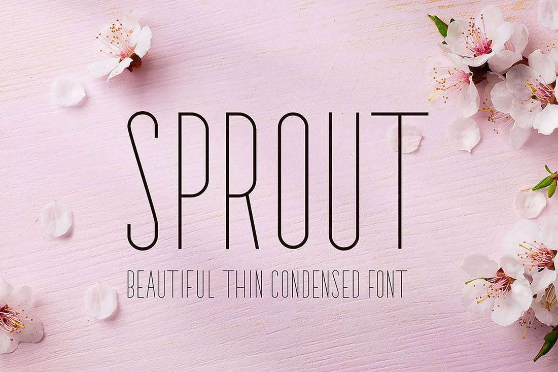 Sprout - Condensed Sans Serif Font