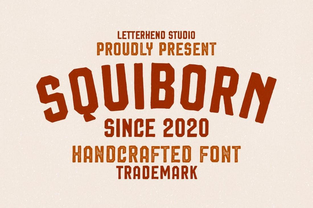 Squiborn - Baseball Logo Font