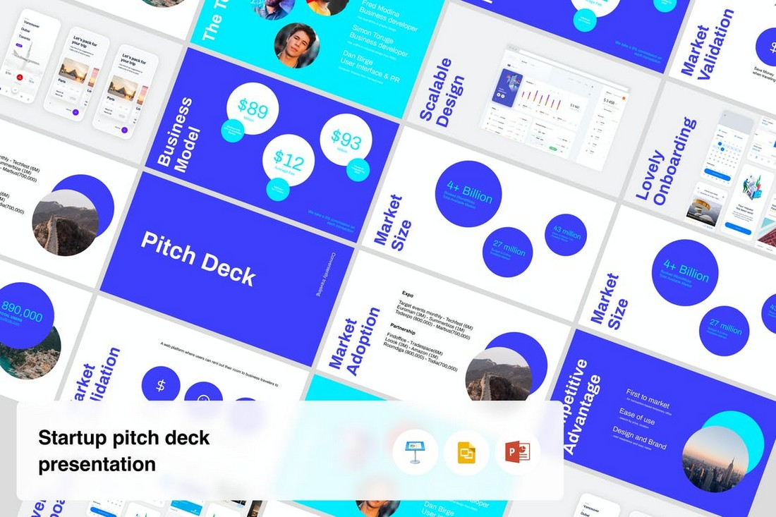 Startup - Pitch Deck Presentation PPT Template