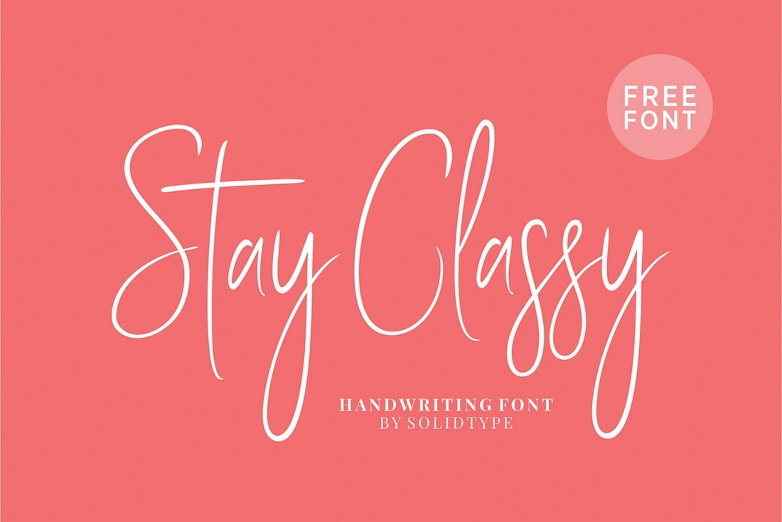 Stay Classy - Free Handwriting Font