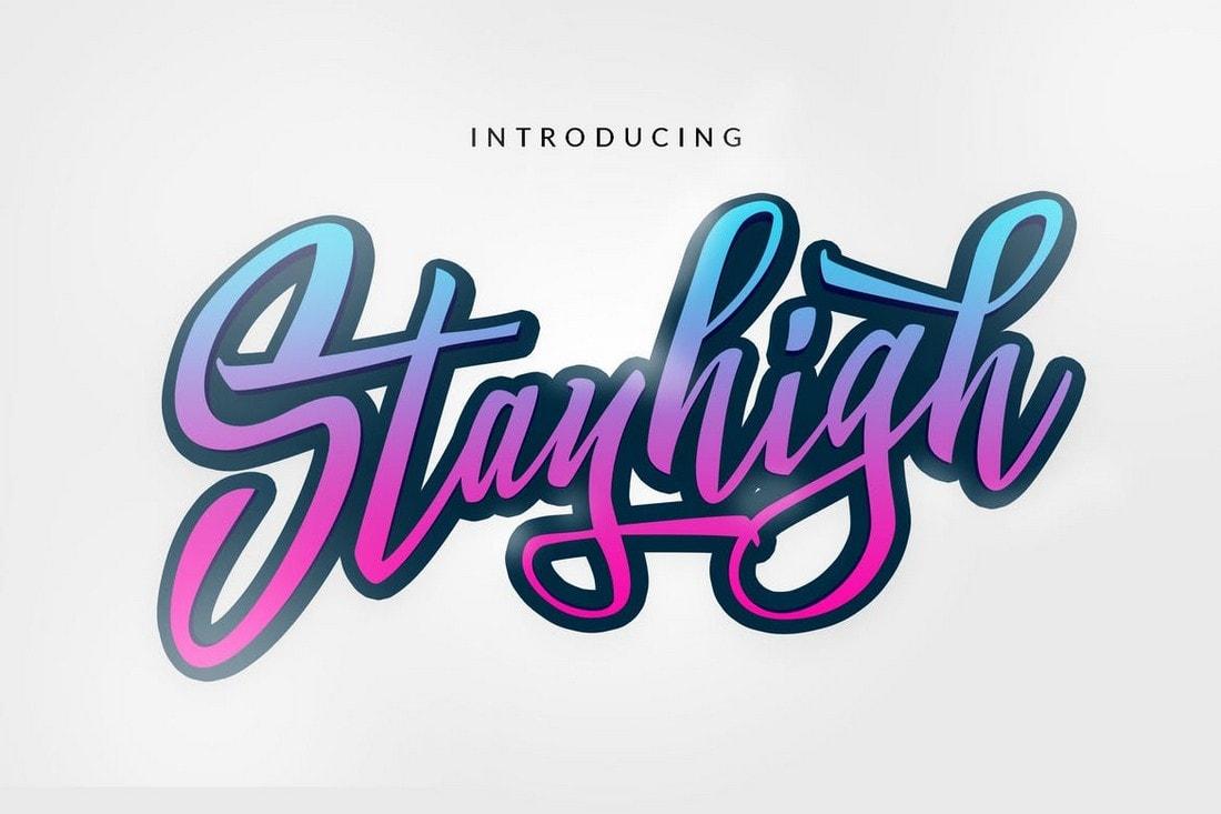 Stay High - Script Logotype Font