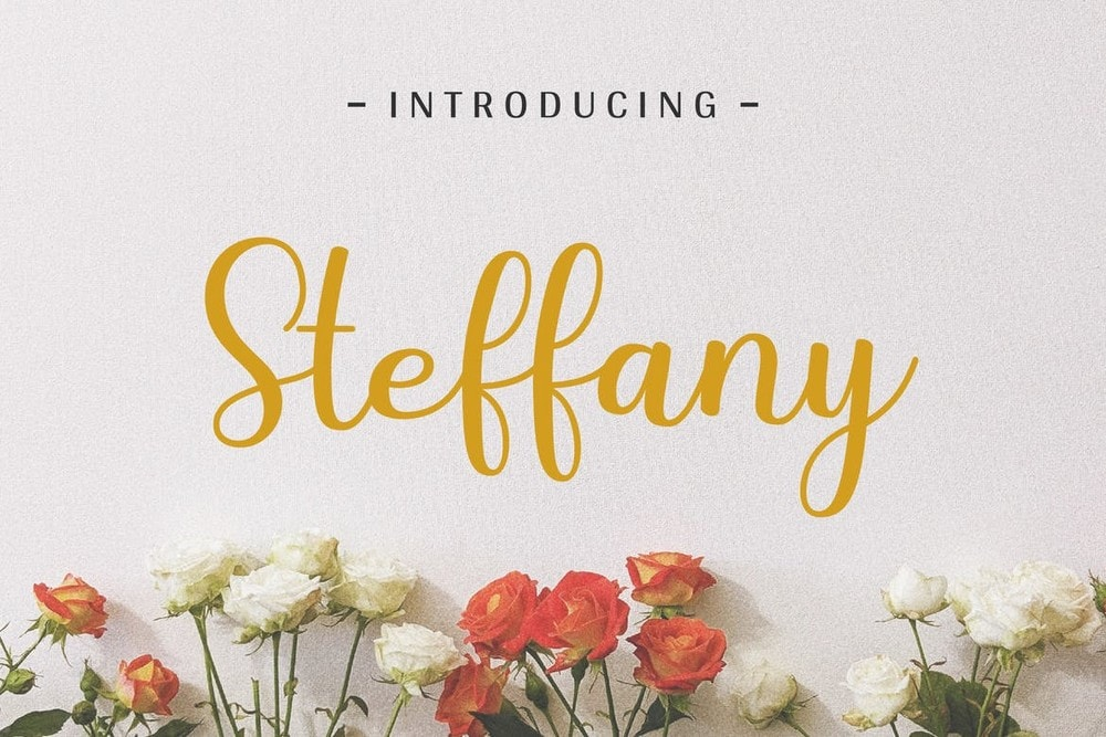 Steffany - Handwriting Wedding Font