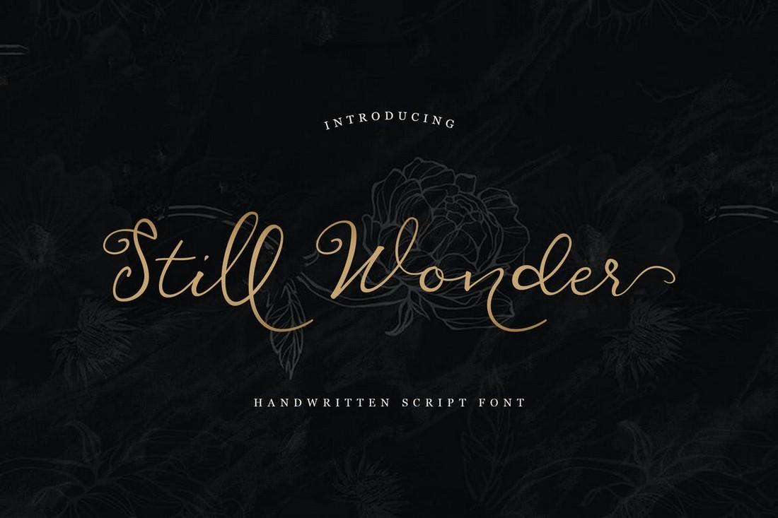 Still Wonder - Font Naskah Pernikahan
