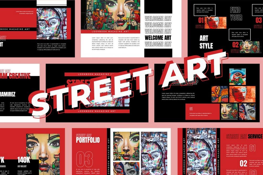 Seni Jalanan - Template Presentasi Powerpoint
