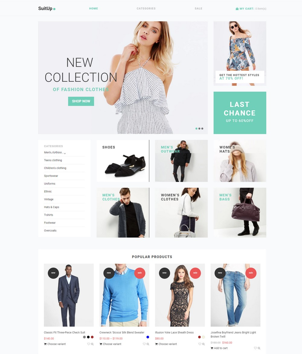 SuitUP free shopify theme