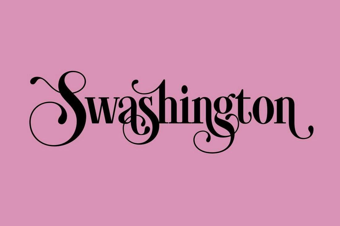 Swashington - Font Art Nouveau
