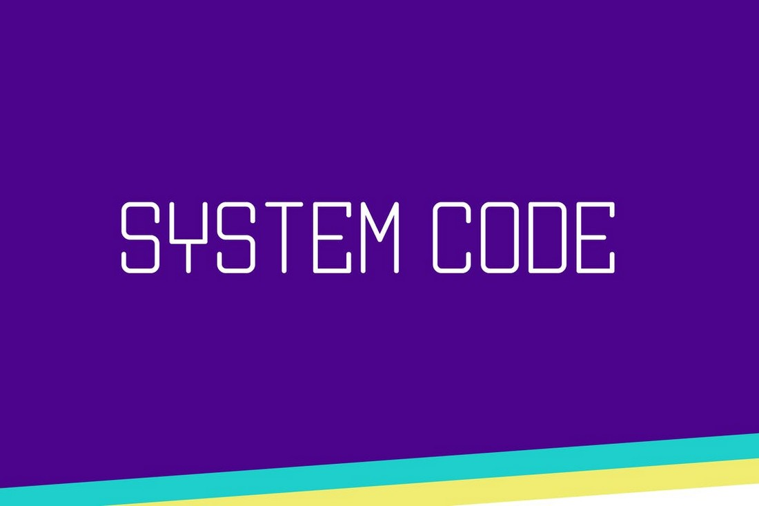 Kode Sistem - Font Geometris Kreatif