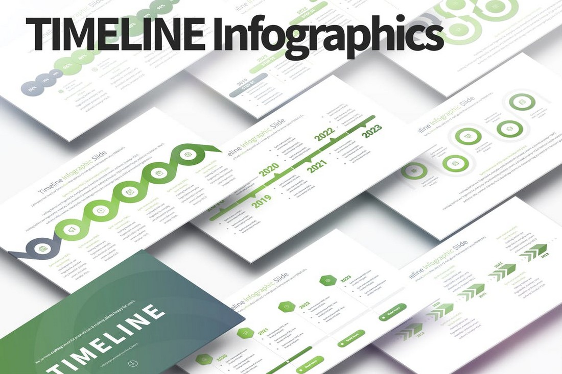 TIMELINE - PowerPoint Infographics Slides