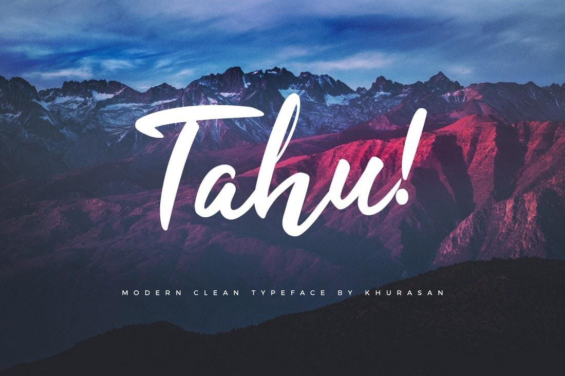 Tahu - Free Script Handwriting Font
