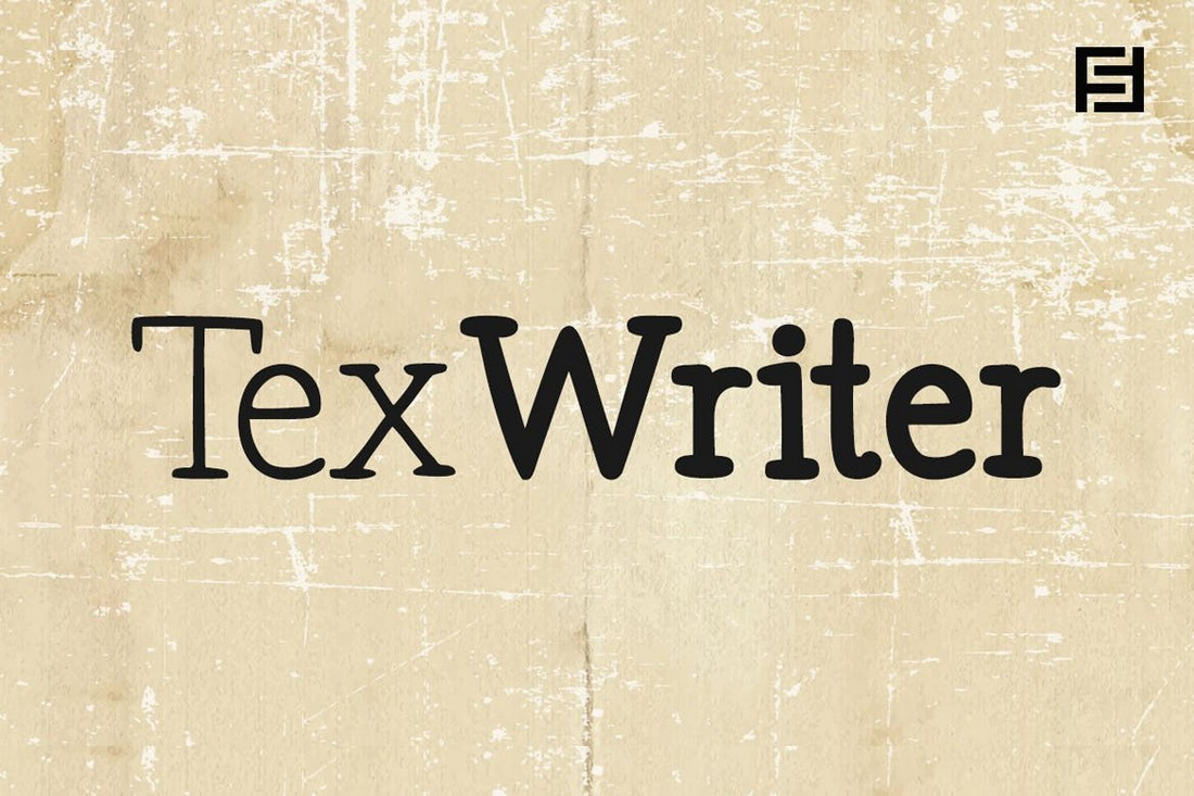 Penulis Tex - Font Kartu Bisnis untuk Penulis
