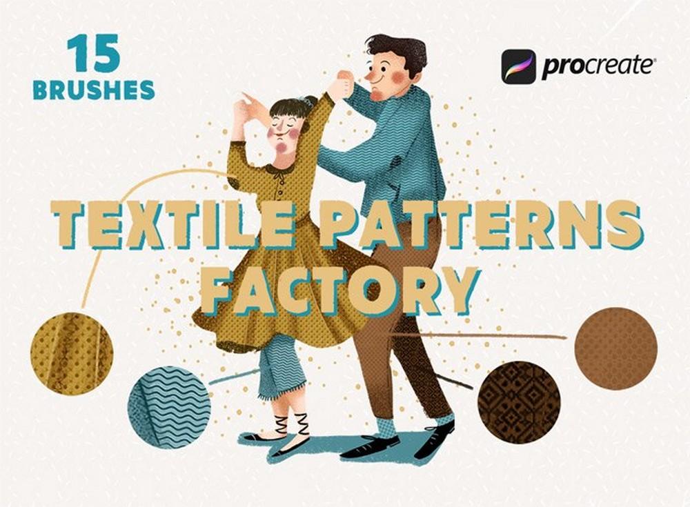 Textile Factory - Free Procreate Brushes