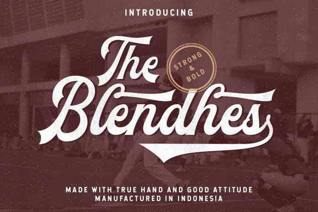 The Blendhes - Free Baseball Font