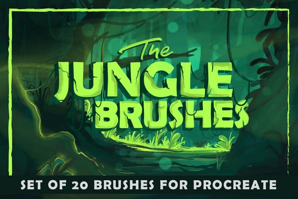 The Jungle - 20 Procreate Brushes